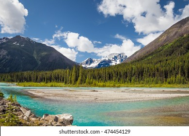Kootenay National Park, British Columbia, Cahada. Kootenay exhibits a wide range of magnificent mountain and water vistas.