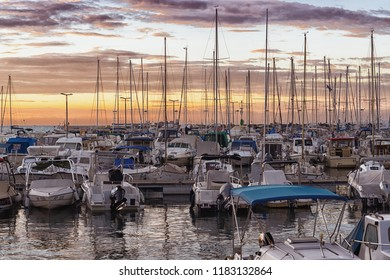 KOPER, SLOVENIA - SEPTEMBER 18: Boats in Koper marina on 18th September 2016 in Koper, Slovenia.