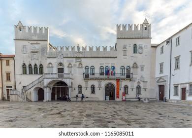 KOPER, SLOVENIA - SEPTEMBER 18: Old town of Koper on 18th September 2016 in Koper, Slovenia.