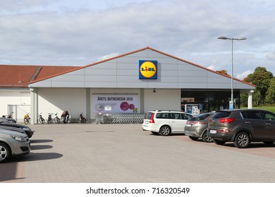 KOPING, SWEDEN - SEPTEMBER 16 2017: Lidl grocery store in Koping, Sweden