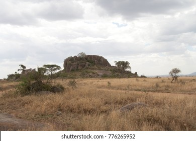 Kopjes mountain, Serengeti. Tanzania (African grassland geological feature - Kopjes or Island Mountain)