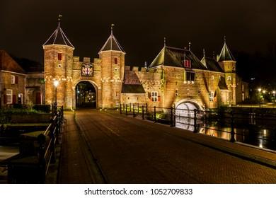 Koppelpoort Amersfoort in the evening (the Netherlands)