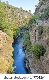 The Koprulu canyon at the Koprucay river in Turkey