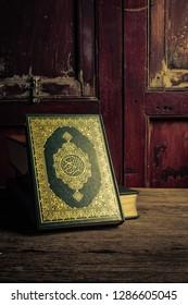 Koran - holy book of Muslims ( public item of all muslims )  , still life .