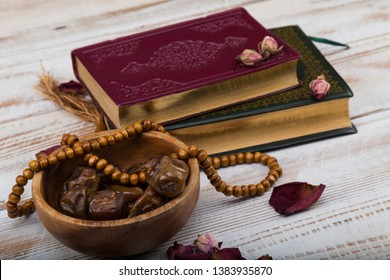 Koran-Holy book quran in the mosque for Muslims holiday, Ramadan,blessed Friday message.