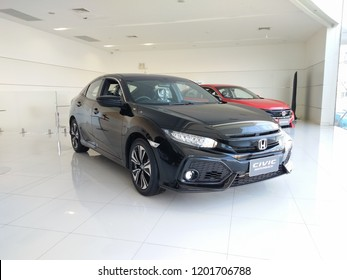 Korat (Nakhon-Ratchasima), Thailand - October 12, 2018 :  Honda civic hatchback for  at Honda Nakhonratchasima Center Thailand