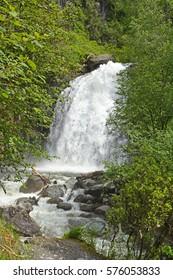 Korbu waterfall- the biggest waterfall in Altai, Russia