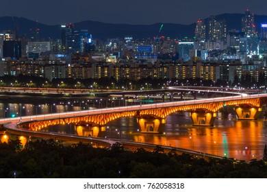 korea bridge night