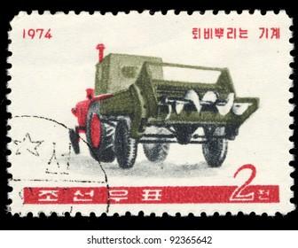 KOREA - CIRCA 1974: A stamp printed in Korea shows car, circa 1974