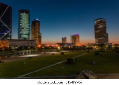 Korea City at night  background. ( blur )