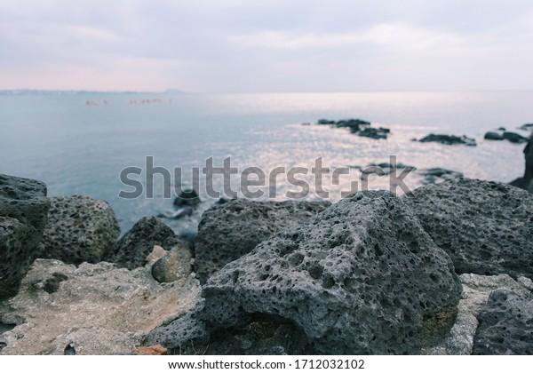 Korea JEJU Island stone beautiful