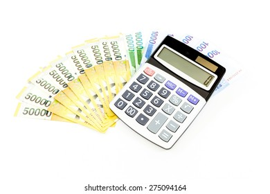 korea money with calculator