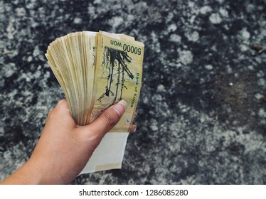 Korea money on hand