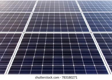 Korea Photovoltaic power generation landscape. Solar panel development.