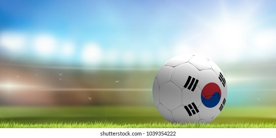 Korea Republic soccer football ball 3d rendering