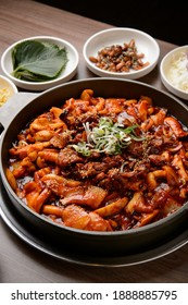 Korea Spicy red pork seafood