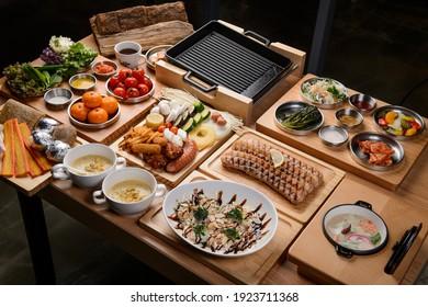Korea traditional grilled pork meat
