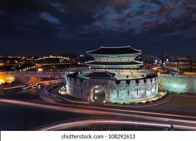 Korea traditional landmark su-won castle