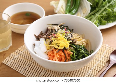 korea traditional meal bibimbap