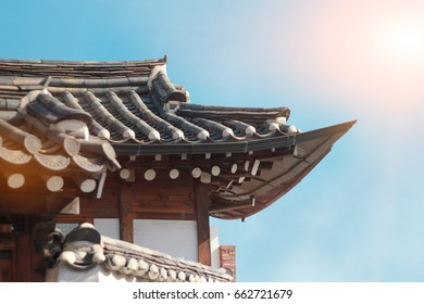Korea traditional roof