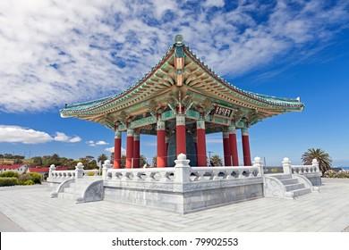 Korean Bell of Friendship pagoda in San Pedro, California