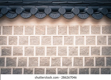 Korean brick wall vintage style