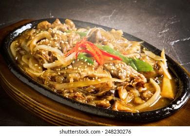 Korean  Bulgogi  food