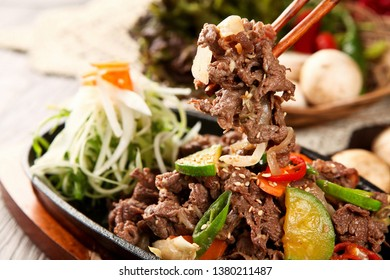 Korean Bulgogi on a plate