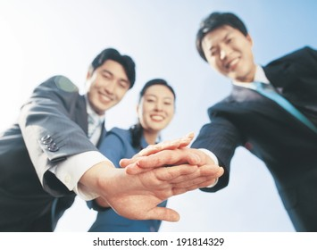 Korean business team