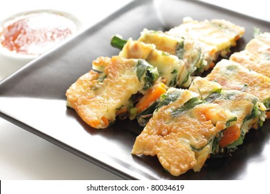 Korean cuisine, Leek and pork Pan cake
