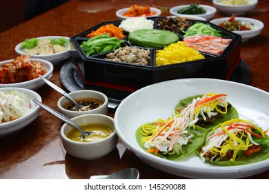 Korean cuisine set