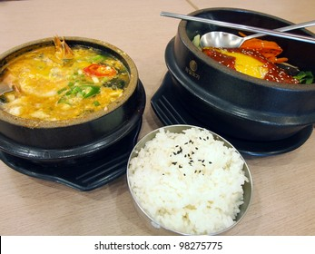 Korean cuisine spicy hot pot
