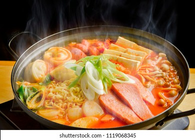 Korean delicious and hot hot pot cooking