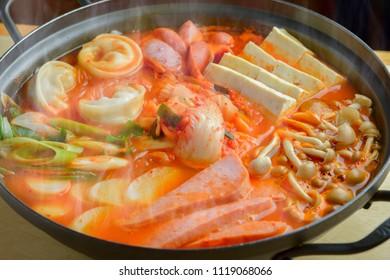 Korean delicious Tige hot pot dishes