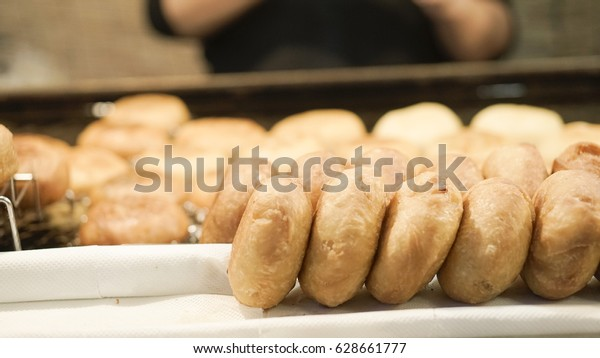 Korean Donuts Chapssal Donuts Glutenous Rice Stock Photo