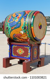 Korean Drum (Jungeom) used at ceremonial change of the guards at Gyeongbokgung Palace.