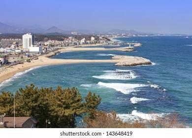 Korean east coastline