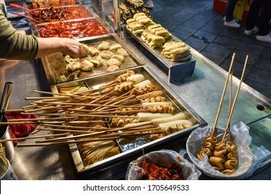 Korean fish cake and fried dumplings
