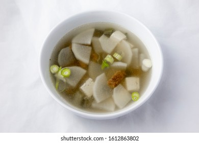 Korean food beef radish soup which is called soegogi muguk