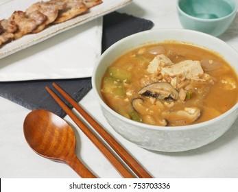 Korean food  cheonggukjang, fast-fermented bean paste