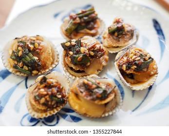 Korean food cockle Soy sauce seasoning