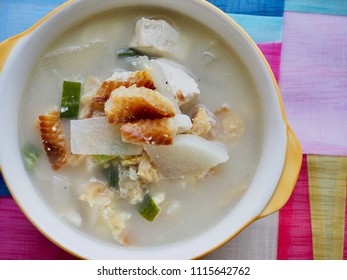 Korean food Dried pollack soup