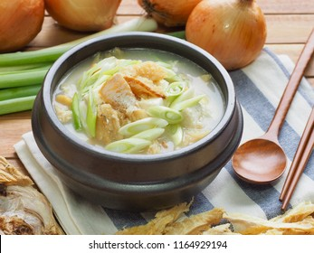 Korean food Dried pollack soup