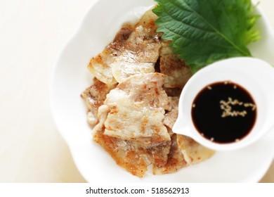 Korean food, grilled belly pork