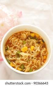 korean food, instant spicy noodles