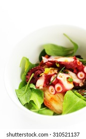 Korean food, Kimchi and octopus mixed appetizer