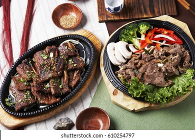 Korean food, LA Galbi and Bulgogi