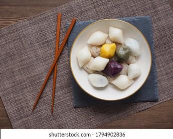 Korean food Songpyeon, rice cake