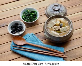 Korean food Soybean Paste Stew ,miso soup