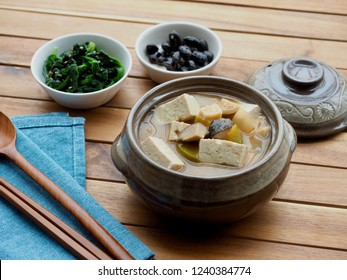 Korean food Soybean Paste Stew ,miso soup